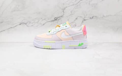 耐克Nike AF1 Pixel x LPL联名款纯原版本低帮空军一号夜光彩色解构马卡龙板鞋原楦头纸板打造 货号:DO2330-511