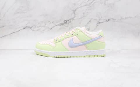 """耐克Nike Dunk Low """"Light Soft Pink""""纯原版本低帮Dunk冰柠黄粉原装头层打造 货号:DD1503-600"""