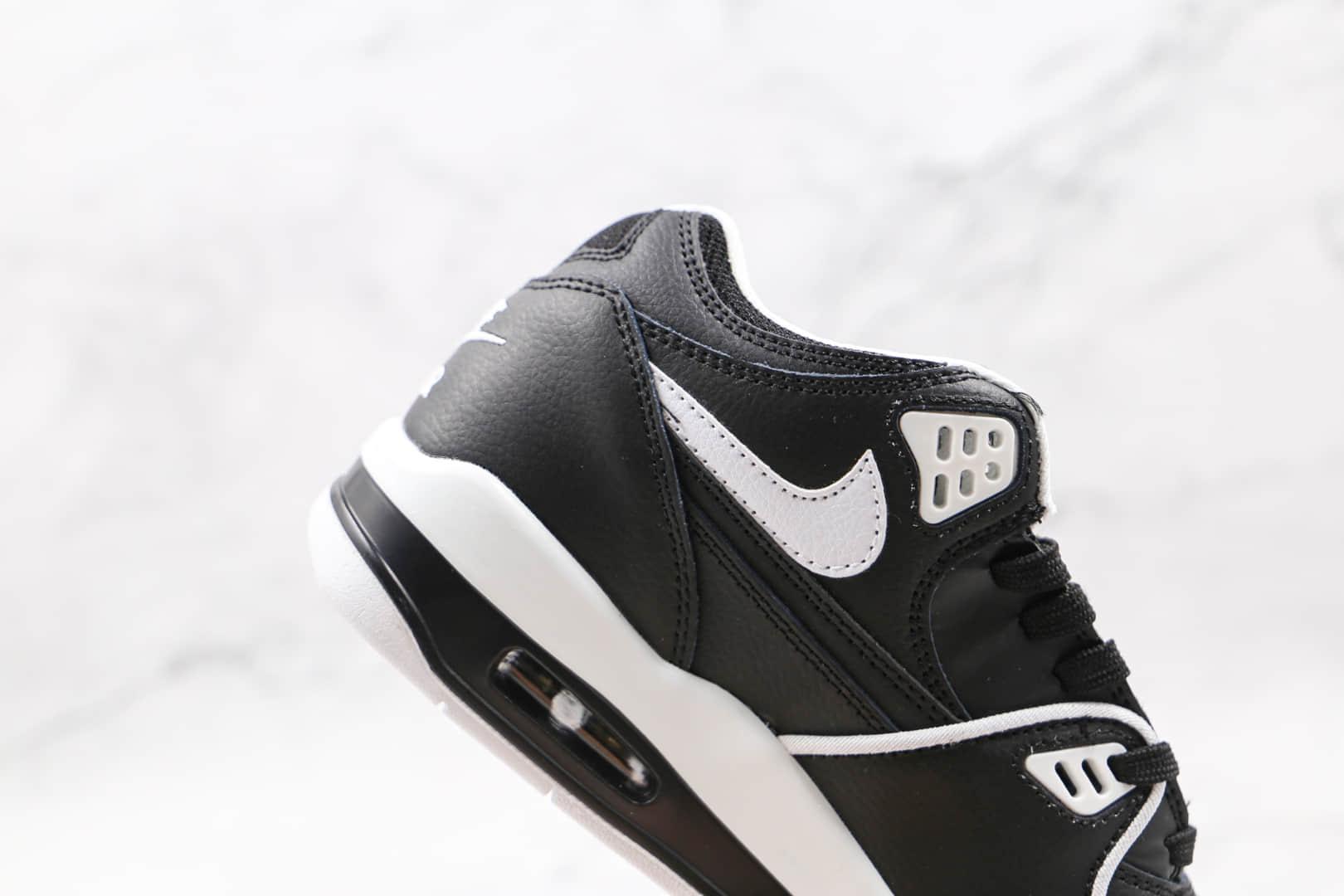 耐克Nike Air Flight 89纯原版本星际篮球鞋主题黑白色复古篮球鞋原楦头纸板打造 货号:CT1570-001