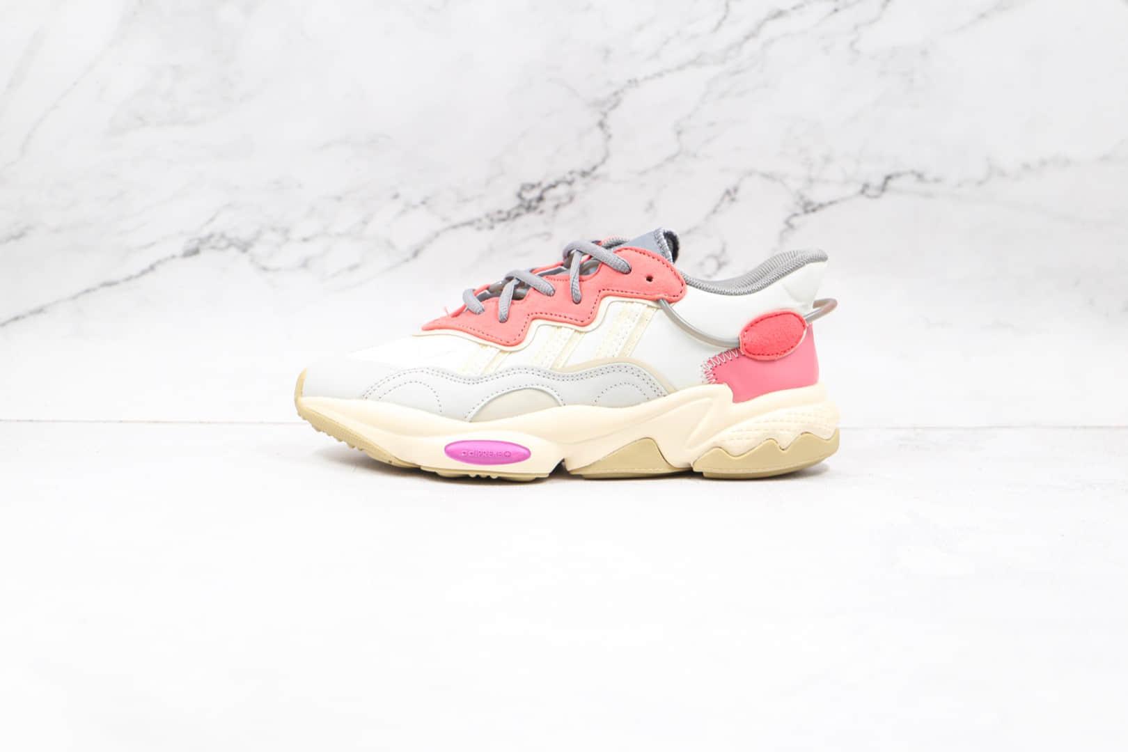 阿迪达斯Adidas OZWEEGO 2021纯原版本水管布面米红色老爹鞋原楦头纸板打造 货号:FX6108