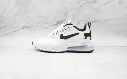 耐克Nike React Air Max 270V2纯原版本半掌气垫Max270二代白黑色慢跑鞋原档案数据开发 货号:CT1264-102