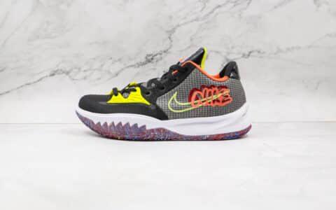 耐克Nike Kyrie 4 Low Ep公司级版本欧文4低帮男子实战篮球鞋黑绿橙色原档案数据开发 货号:CZ0105-002