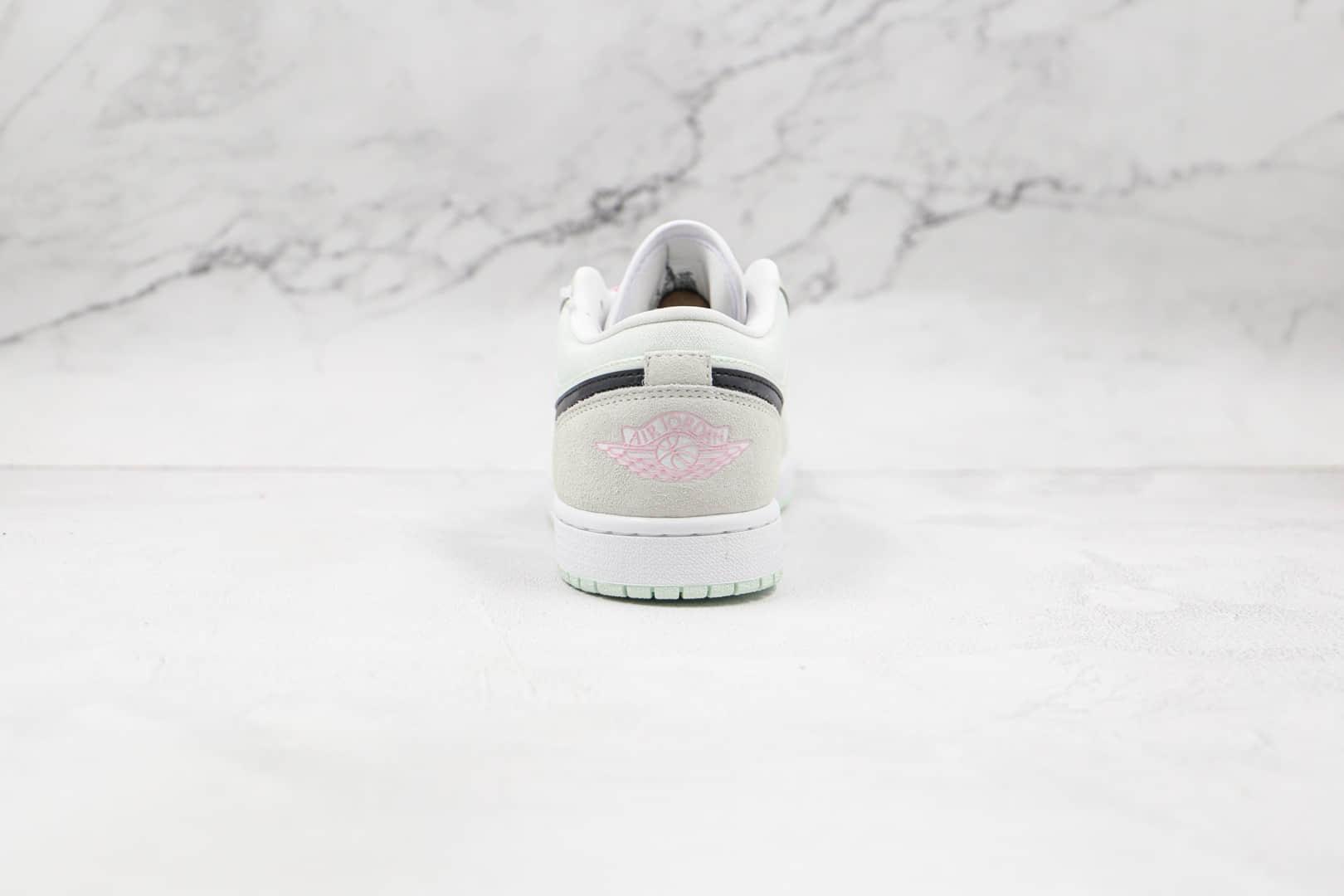 乔丹Air Jordan 1 Low纯原版本低帮AJ1蒂芙尼绿樱花粉板鞋原档案数据开发 货号:CZ0776-300