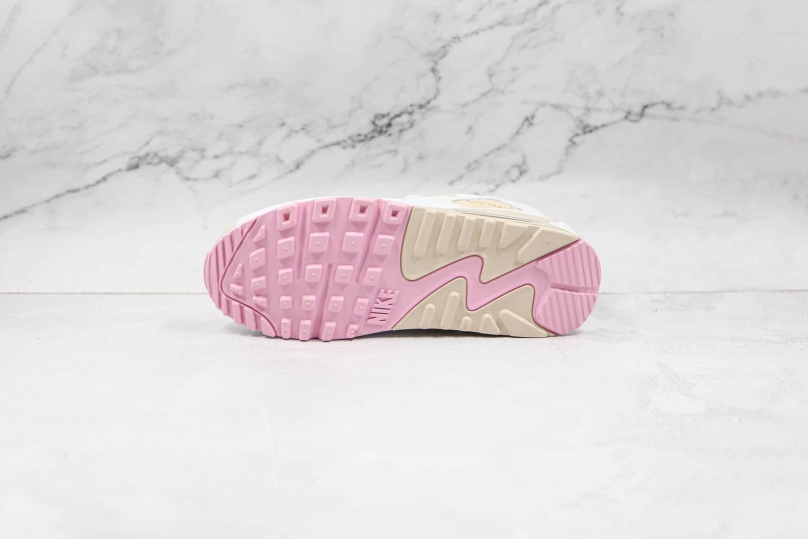 耐克Nike Air Max 90纯原版本复古Max90粉白奶昔配色气垫鞋原楦头纸板打造 货号:CT1873-100