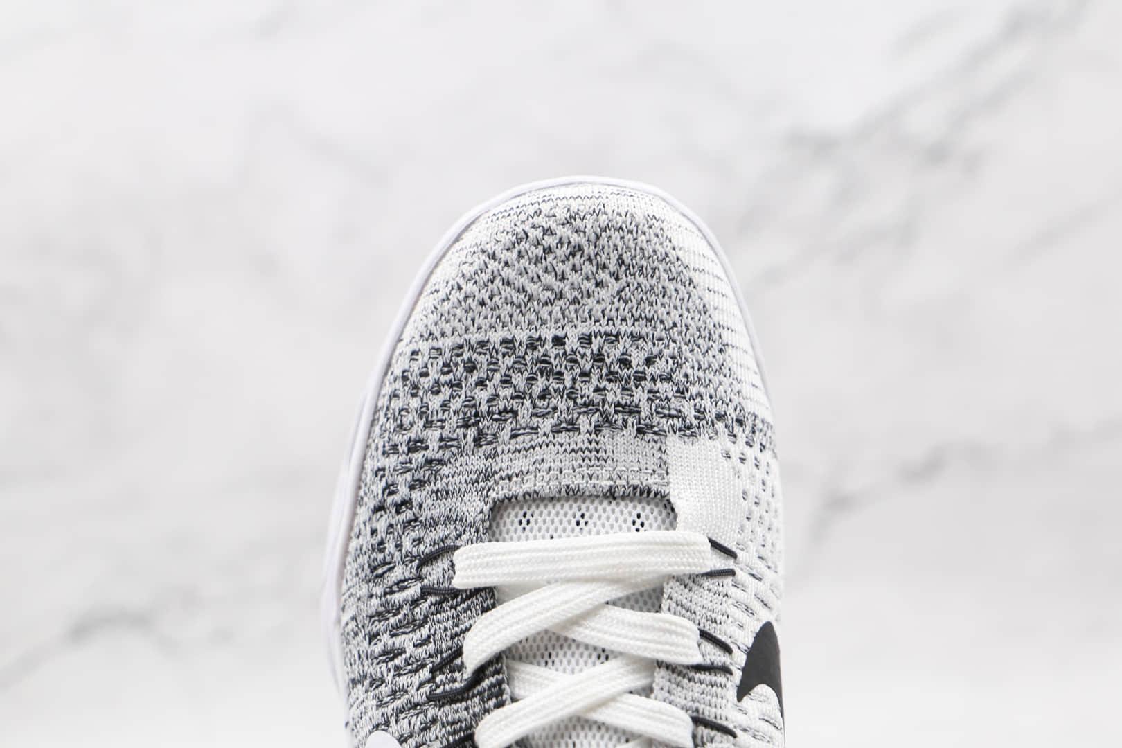 耐克Nike Zoom Kobe IX纯原版本科比9代贝多芬灰白色篮球鞋支持实战 货号:653456-101
