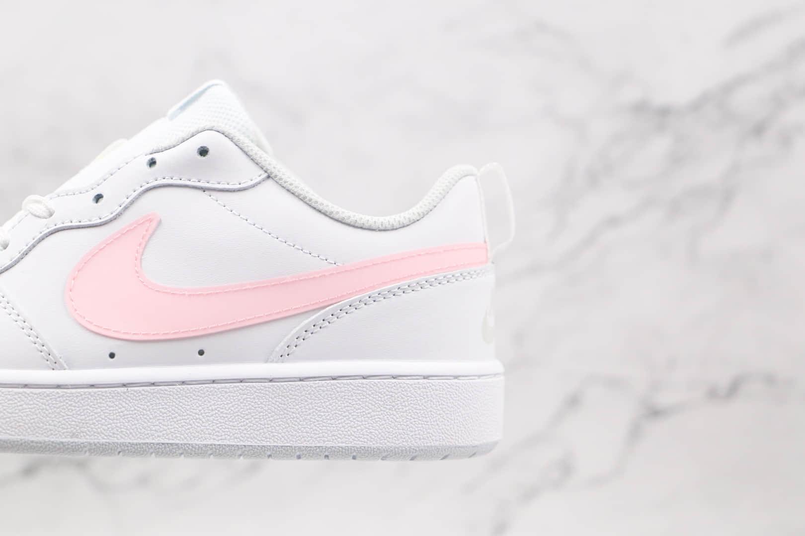 耐克Nike Court Borough Low 2低帮白蓝色白粉色鸳鸯板鞋原档案数据开发 货号:DD3023-100