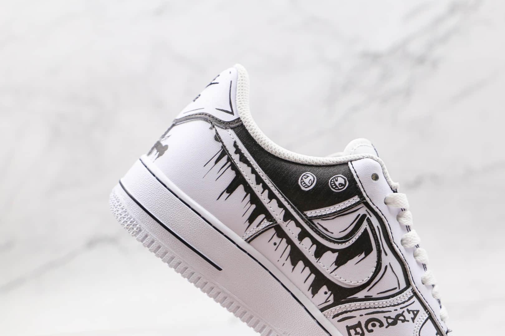 耐克Nike Air Force 1'07纯原版本低帮空军一号黑白色海贼王涂鸦漫画板鞋内置气垫 货号:CW2288-301