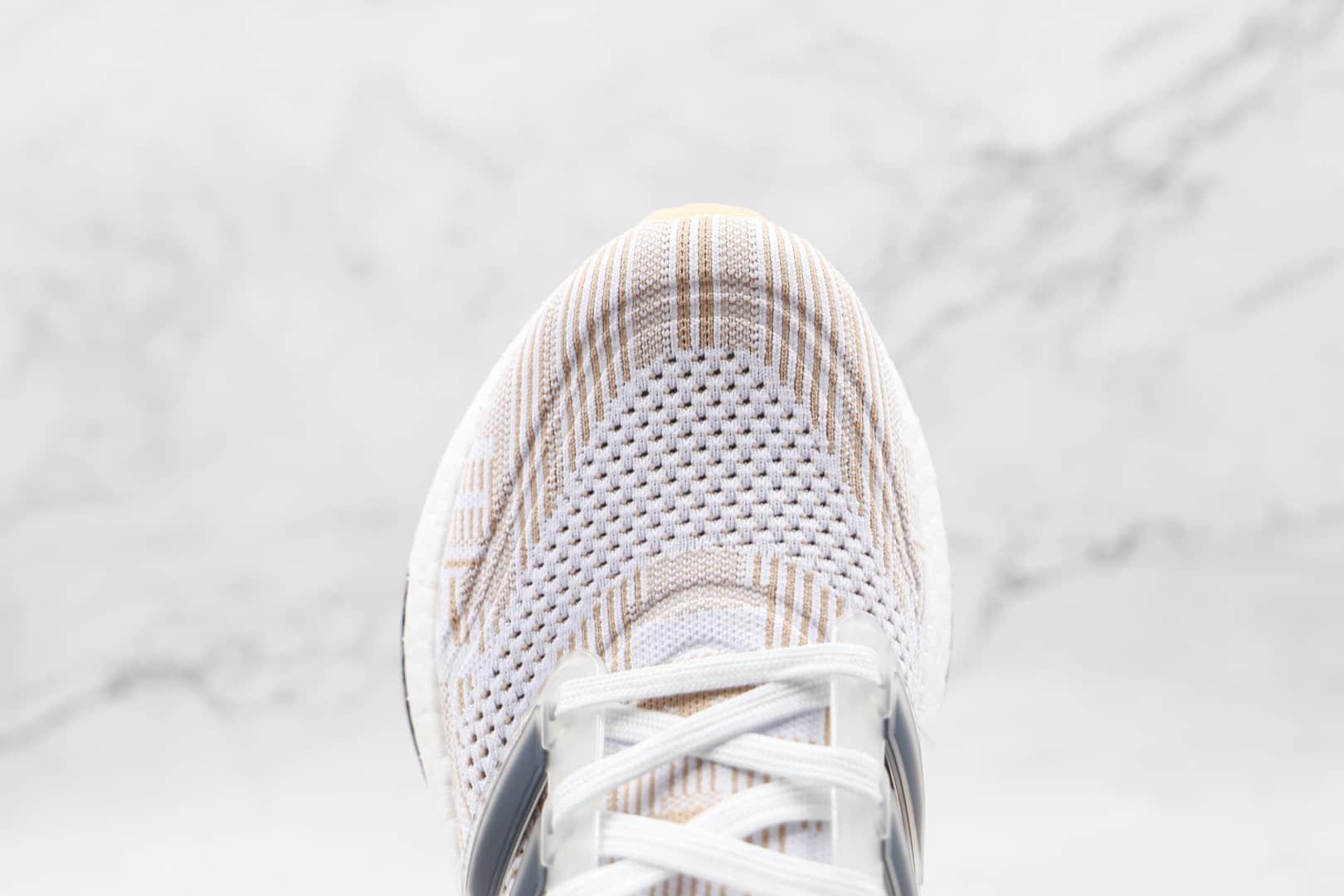 阿迪达斯Adidas ultra boost 2021纯原版本白卡其色UB7.0爆米花跑鞋原楦头纸板打造 货号:FY0838