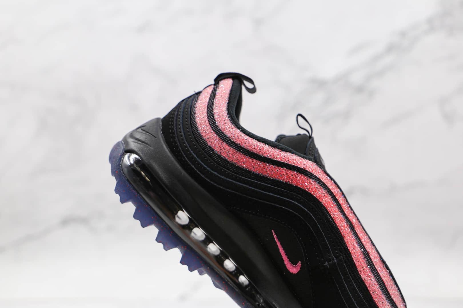 耐克Nike Golf Air Max 97纯原版本高尔夫子弹头Max97黑粉色气垫鞋原楦头纸板打造 货号:DB4698-001