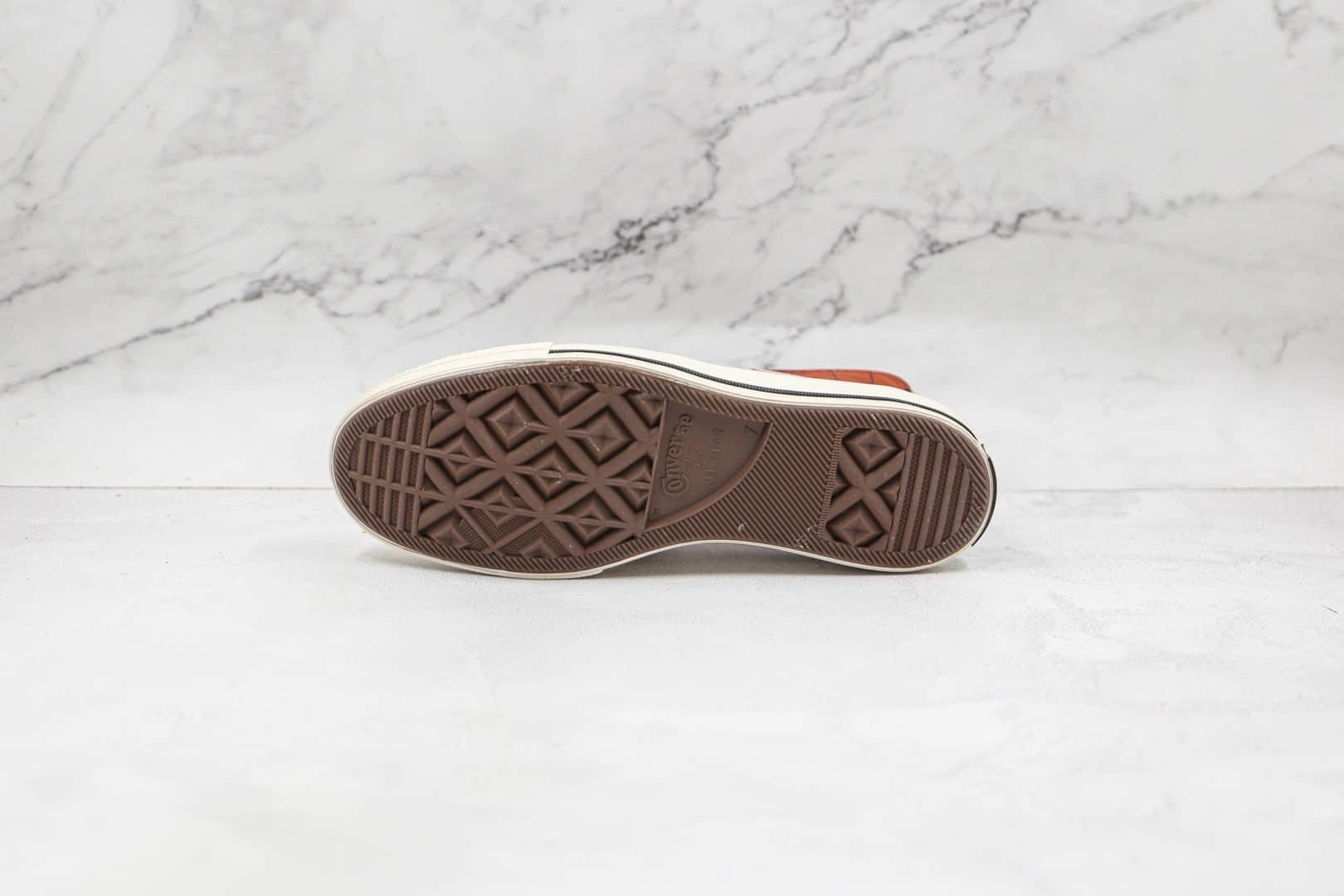 匡威CONVERSE Chuck70 x GORE-TEX联名款公司级版本高帮棕色硫化帆布鞋原楦头纸板打造 货号:171442C