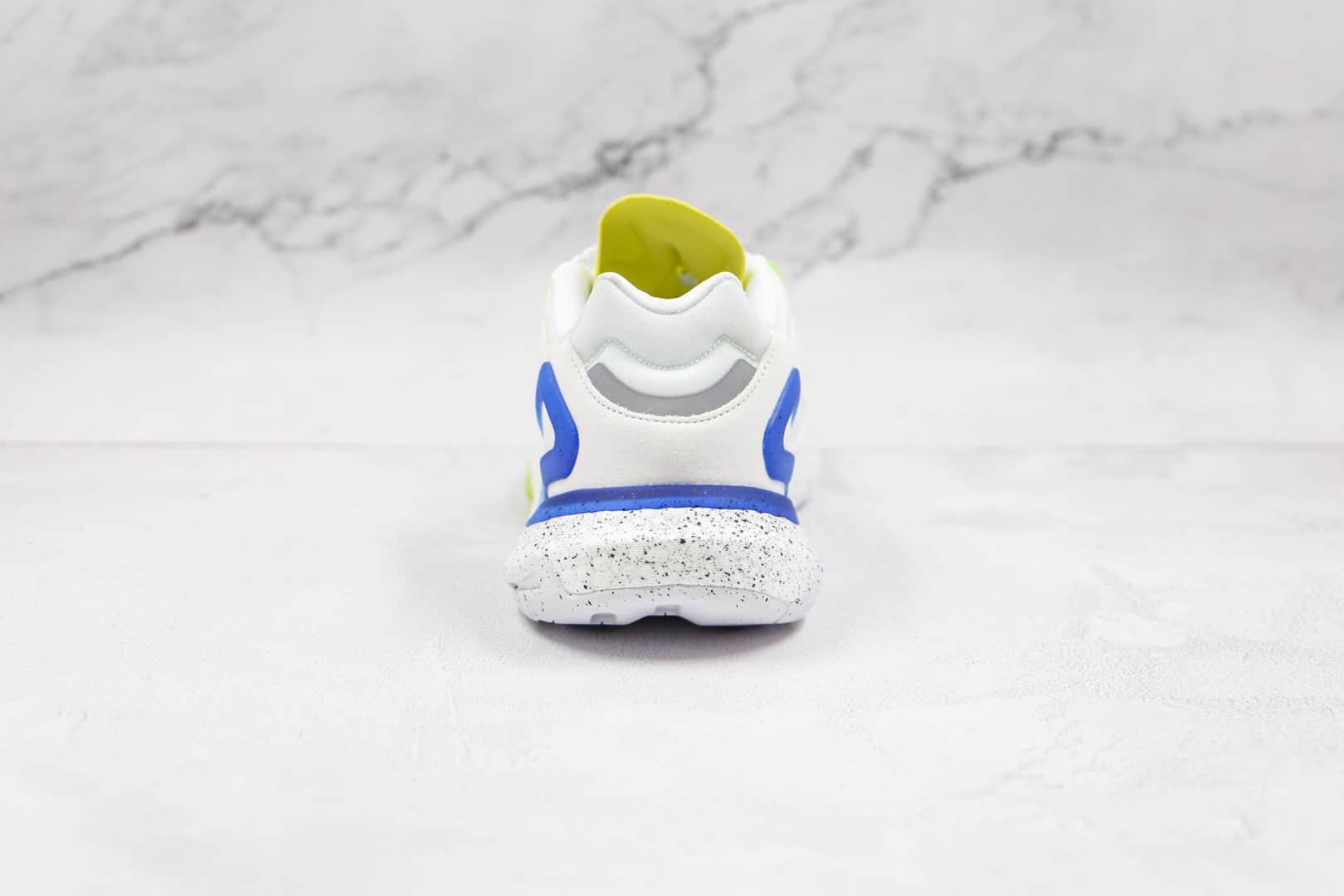 阿迪达斯Adidas Day Jogger 2021 Boost纯原版本夜行者二代网面白蓝绿色渐变色黑点爆米花跑鞋原盒原标 货号:GG4988