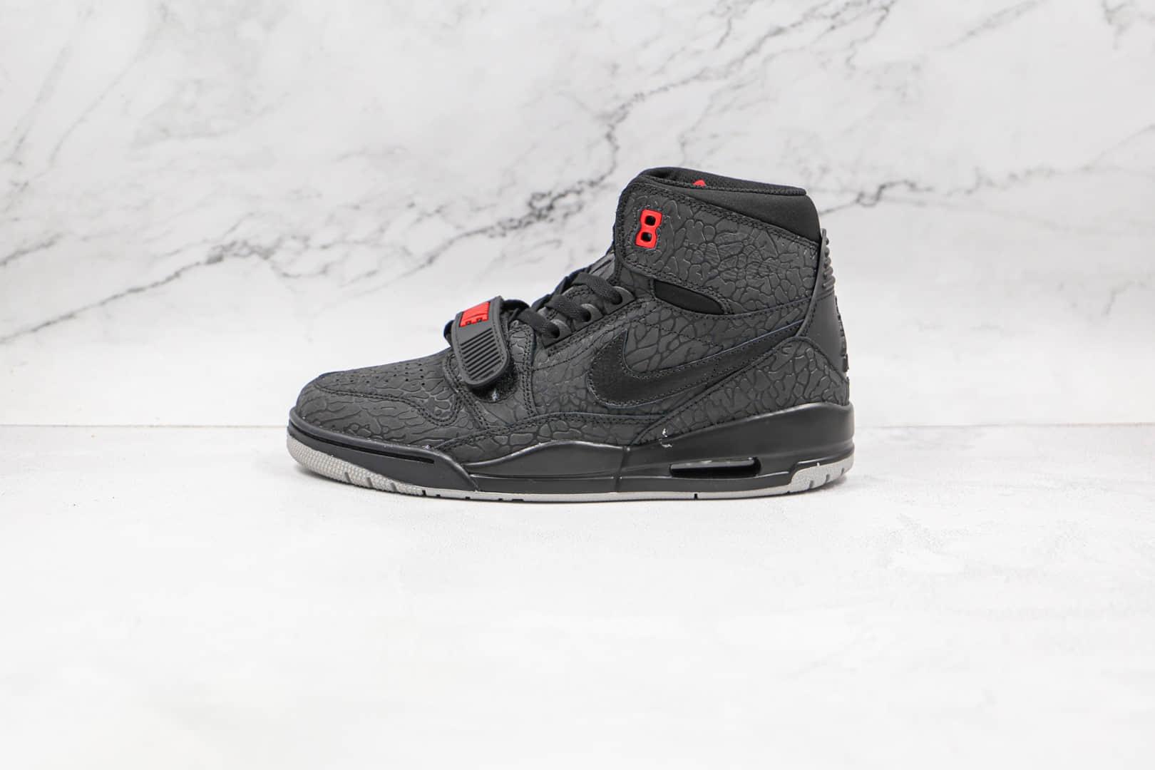 乔丹Air Jordan Legacy 312纯原版本高帮AJ312黑色爆裂纹篮球鞋原档案数据开发 货号:AV3922-006