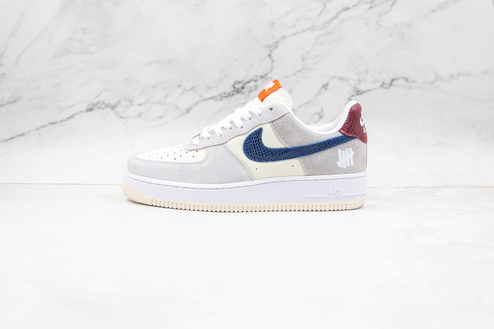 耐克Nike AIR FMRCE 1 VALENTINE'S DAY纯原版本低帮空军一号灰蓝色情人节板鞋内置气垫 货号:DM8461-001