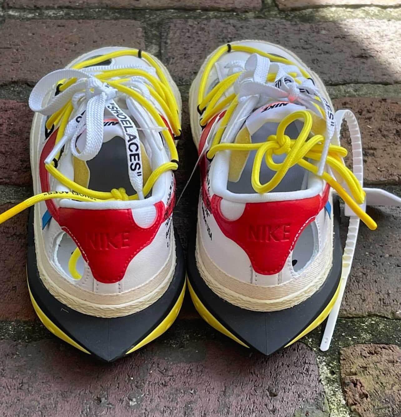 白色OW x Nike Blazer实物曝光!情侣鞋安排起来! 货号:DH7863-100