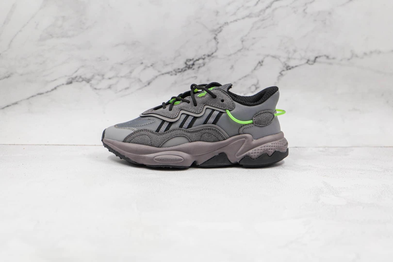 阿迪达斯Adidas Originals Ozweego纯原版本三叶草水管网面灰黑绿老爹鞋原档案数据开发 货号:FX5186
