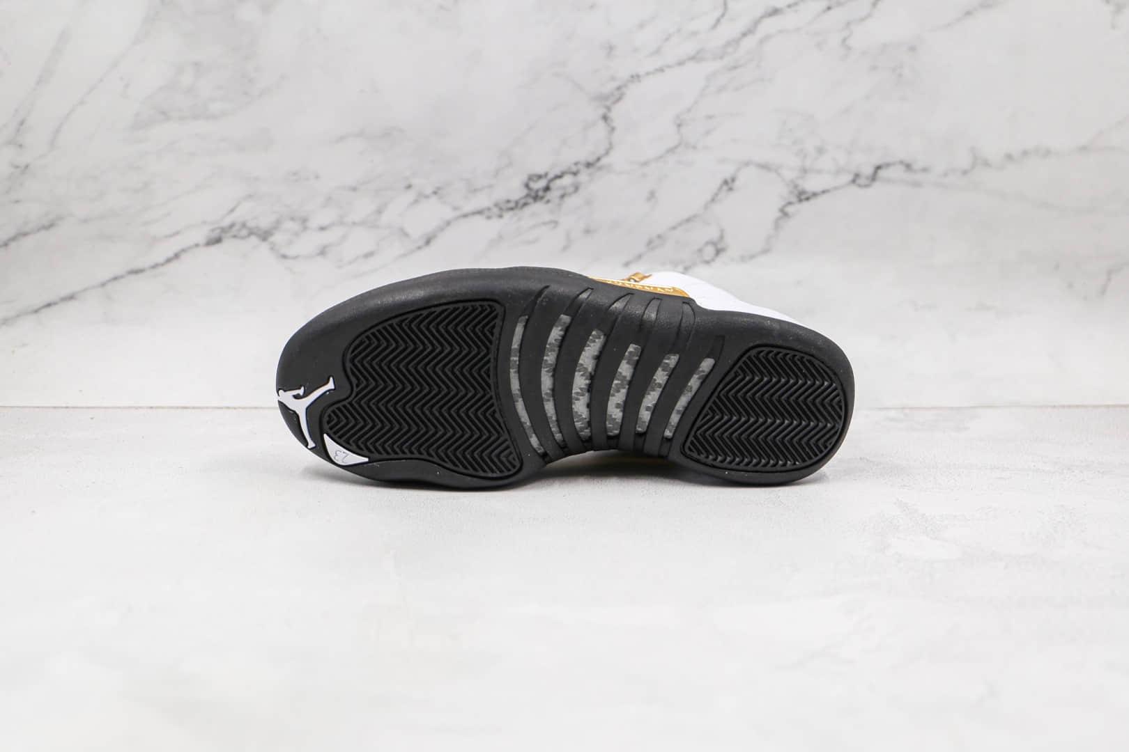 乔丹Air Jordan 12纯原版本黑白金色AJ12篮球鞋原档案数据开发 货号:CT8013-170
