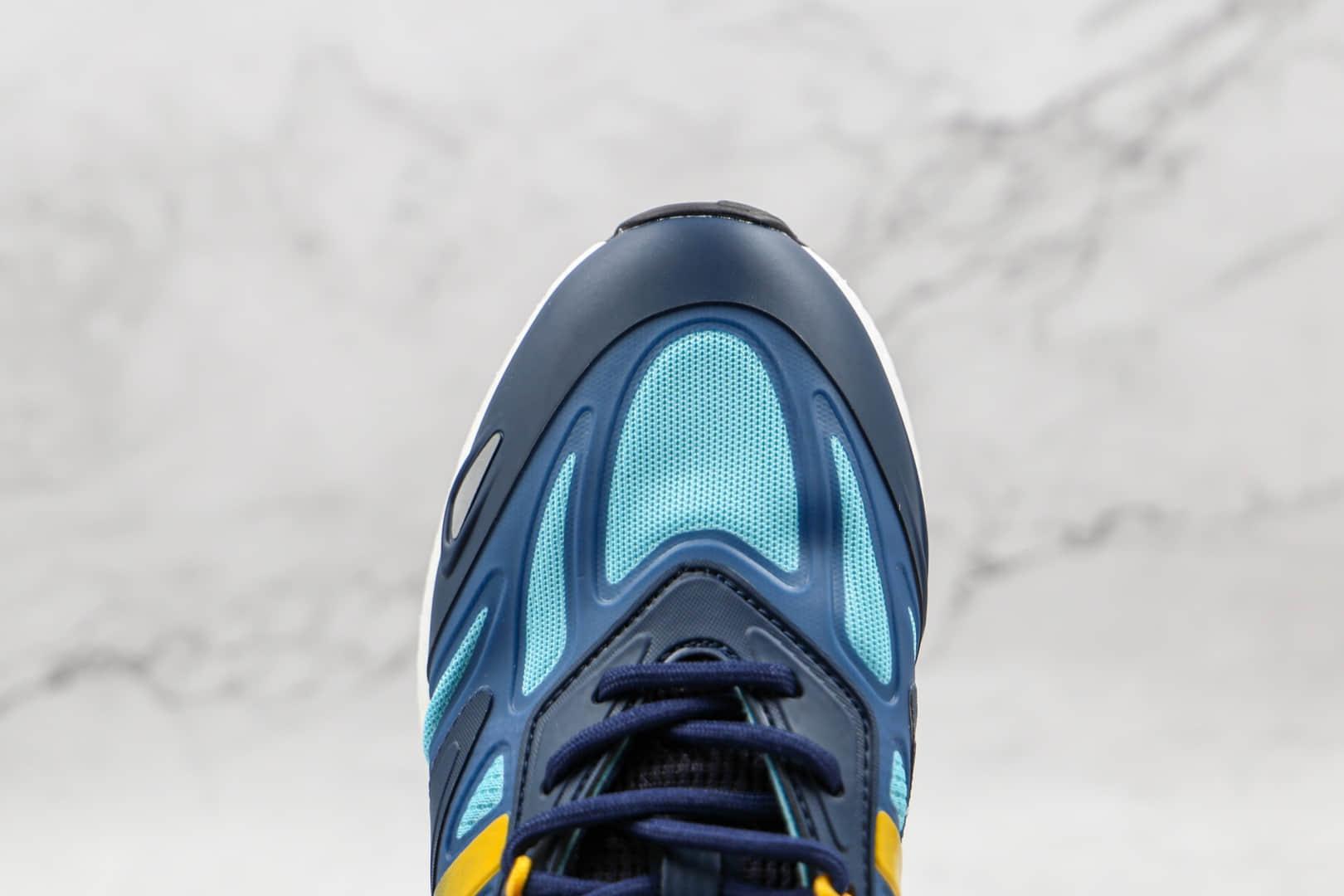阿迪达斯Adidas Originals ZX 2K Boost 2.0纯原版本三叶草ZX 2K蓝黄色爆米花跑鞋原档案数据开发 货号:GZ7501