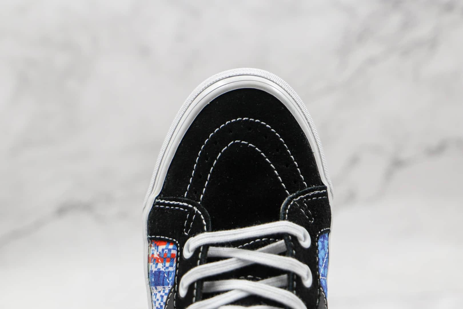 万斯Vans x Sandy Liang x SK8-Hi 38 DX公司级版本三方联名款海绵宝宝图案硫化帆布鞋原厂硫化大底