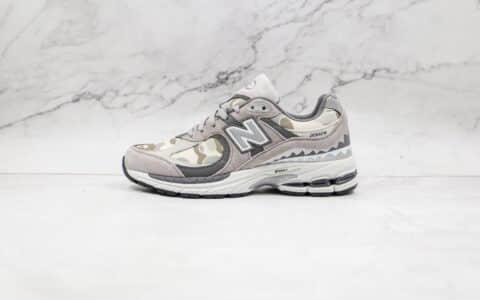 新百伦New Balance 2002R x Bape联名款纯原版本灰迷彩鲨鱼复古NB2002R老爹鞋原鞋开模一比一打造 货号:M2002RBG
