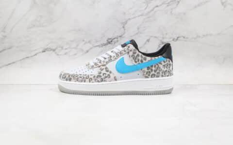 耐克Nike Air Force 1 Low Leopard纯原版本低帮空军一号灰蓝色豹纹板鞋内置气垫 货号:DJ6192-001