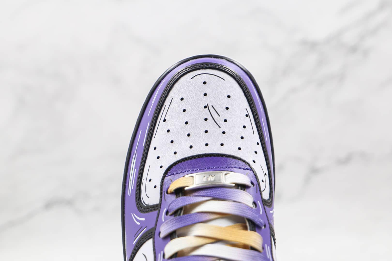 耐克Nike Air Force 1 Low Leopard纯原版本低帮空军一号紫金涂鸦板鞋原盒原标 货号:CW2288-216