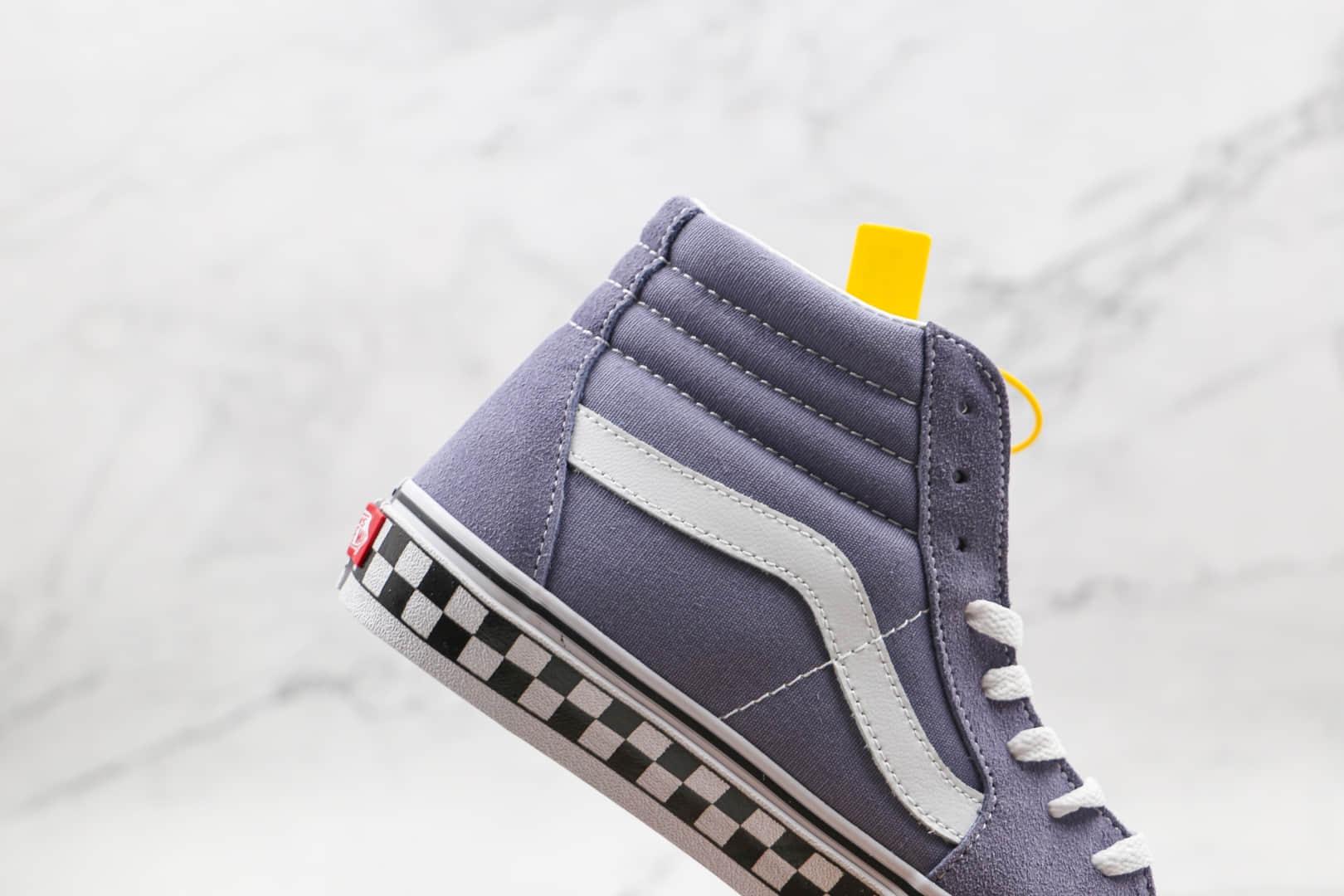 万斯Vans SK8-Hi公司级版本高帮灰色棋盘格麂皮硫化鞋原档案数据开发