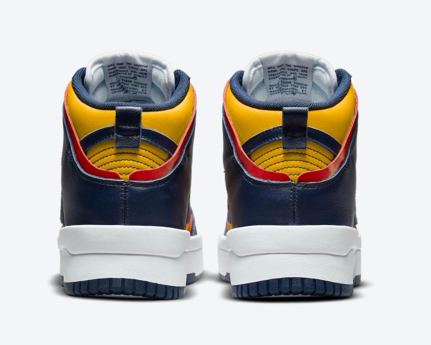 Dunk升级!加厚大底!全新Nike Dunk High Rebel密歇根配色即将登场! 货号:DH3718-701
