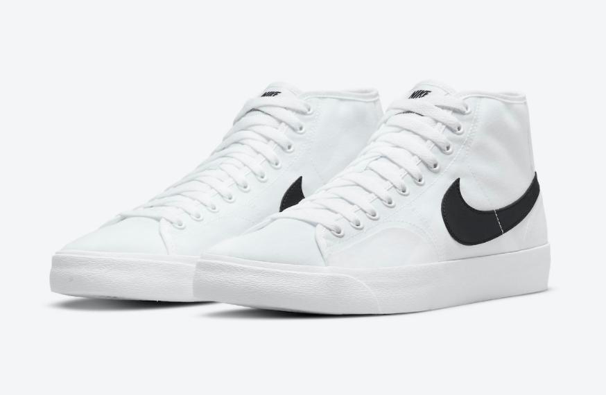 简约白黑!全新Nike SB Blazer Court Mid首度曝光! 货号:DC8901-100