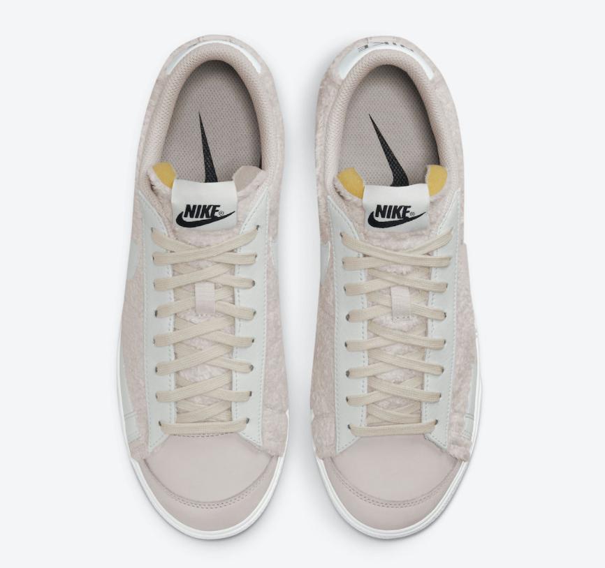 温柔奶咖色!这双毛绒Nike Blazer Low Platform太适合秋冬了! 货号:DO6715-001