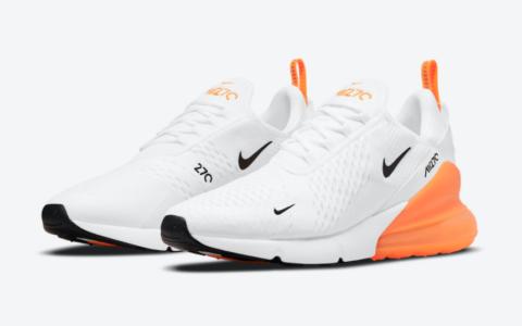 清爽活力!Nike气垫跑鞋Air Max 270白橙配色即将登场! 货号:DO6392-100