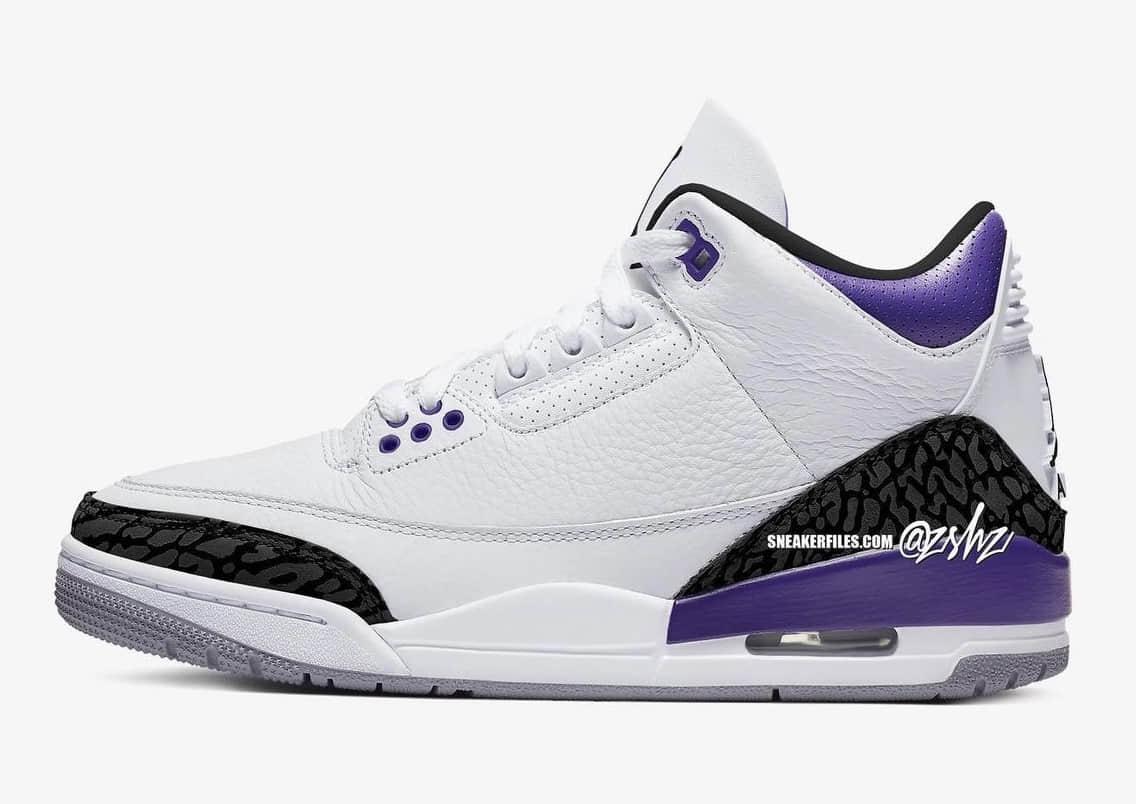 黑紫AJ3姊妹鞋!全新白紫AJ3首度曝光!