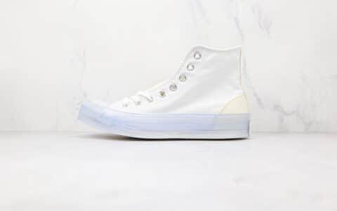 匡威Converse Chuck Taylor All Star CX公司级版本高帮白色水晶底果冻帆布鞋原盒原标 货号:172471C