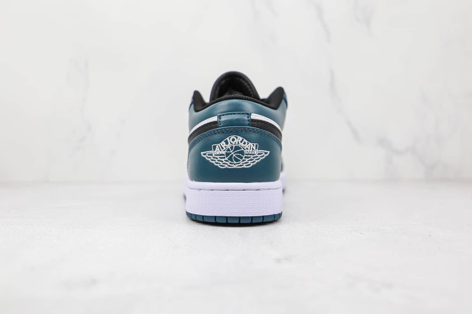乔丹Air Jordan 1 Low纯原版本低帮AJ1白绿色板鞋原鞋开模一比一打造 货号:553558-411
