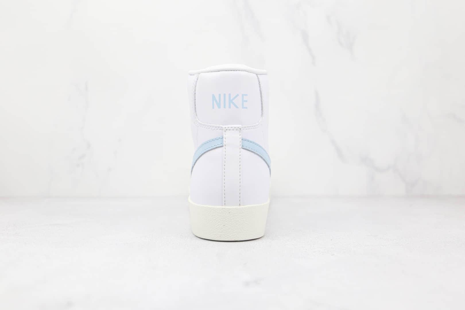 耐克NIKE Blazer MID'77 VNTG纯原版本高帮开拓者白蓝色板鞋原楦头纸板打造 货号:BQ6806-109
