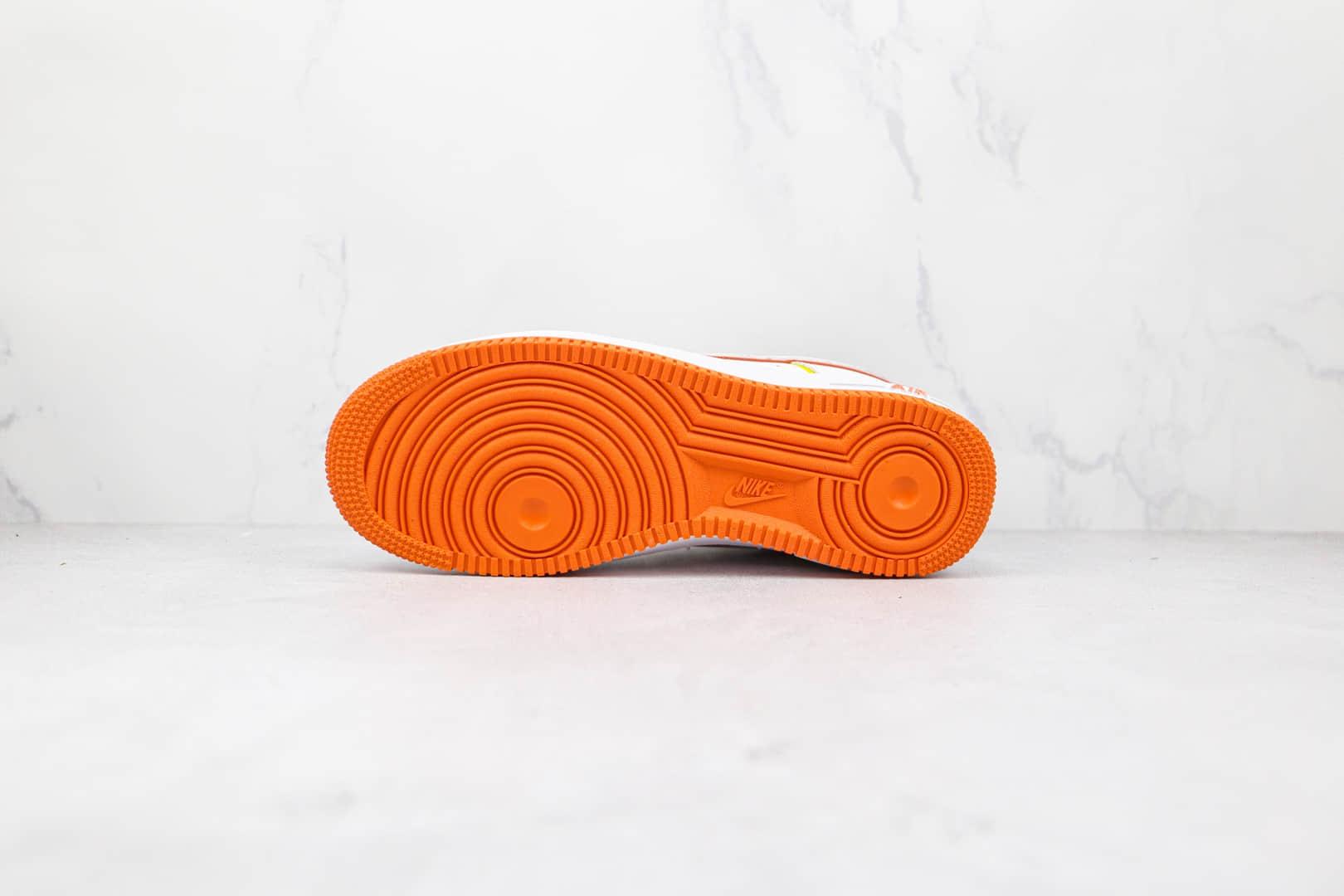 耐克Nike Air Force1 Low纯原版本低帮空军一号火星人限定白橙色板鞋内置Sole气垫 货号:315122-185