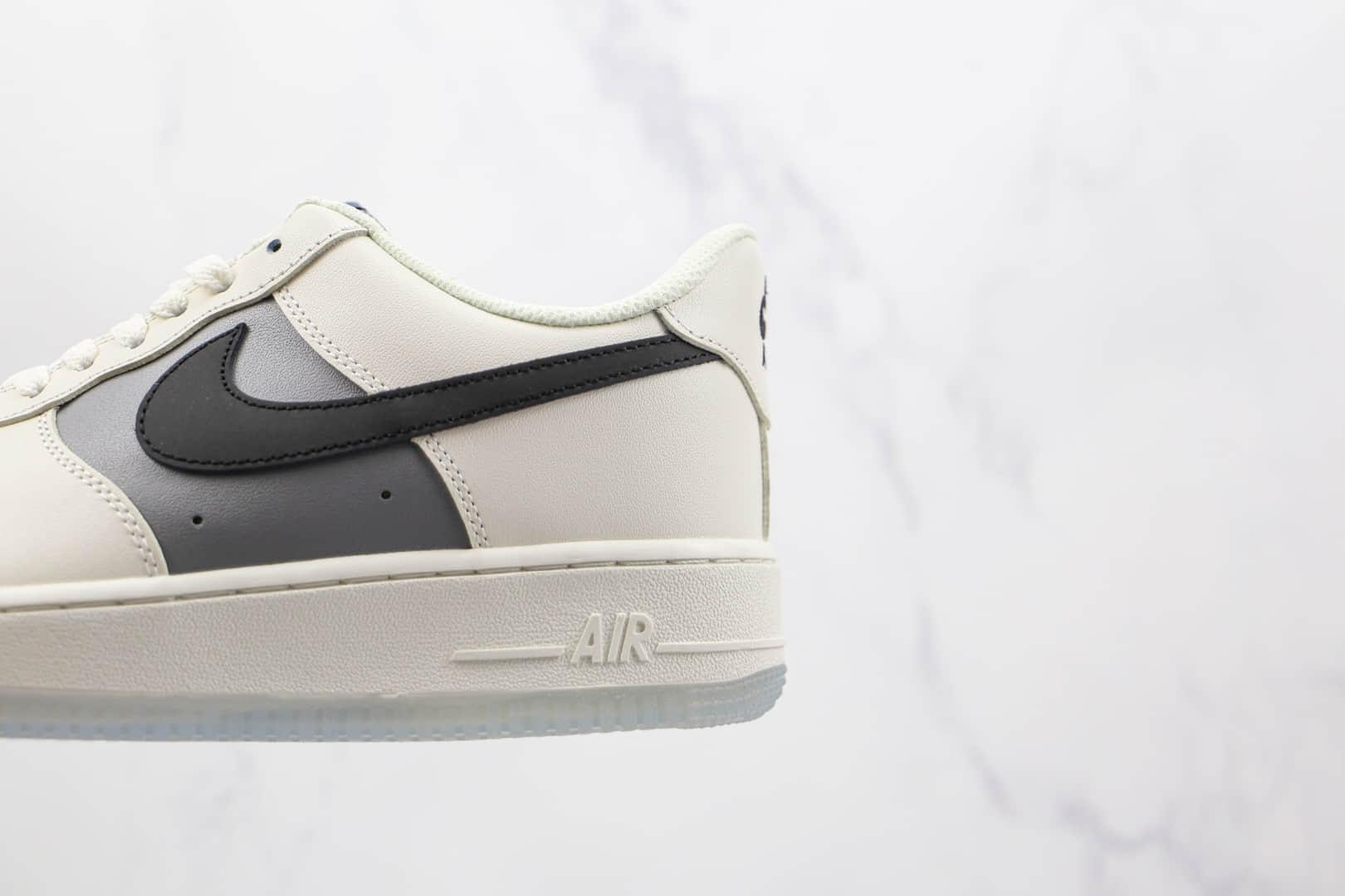 耐克Nike Air Force 1 Low纯原版本低帮空军一号白灰黑色透明底板鞋内置气垫 货号:DC1405-001