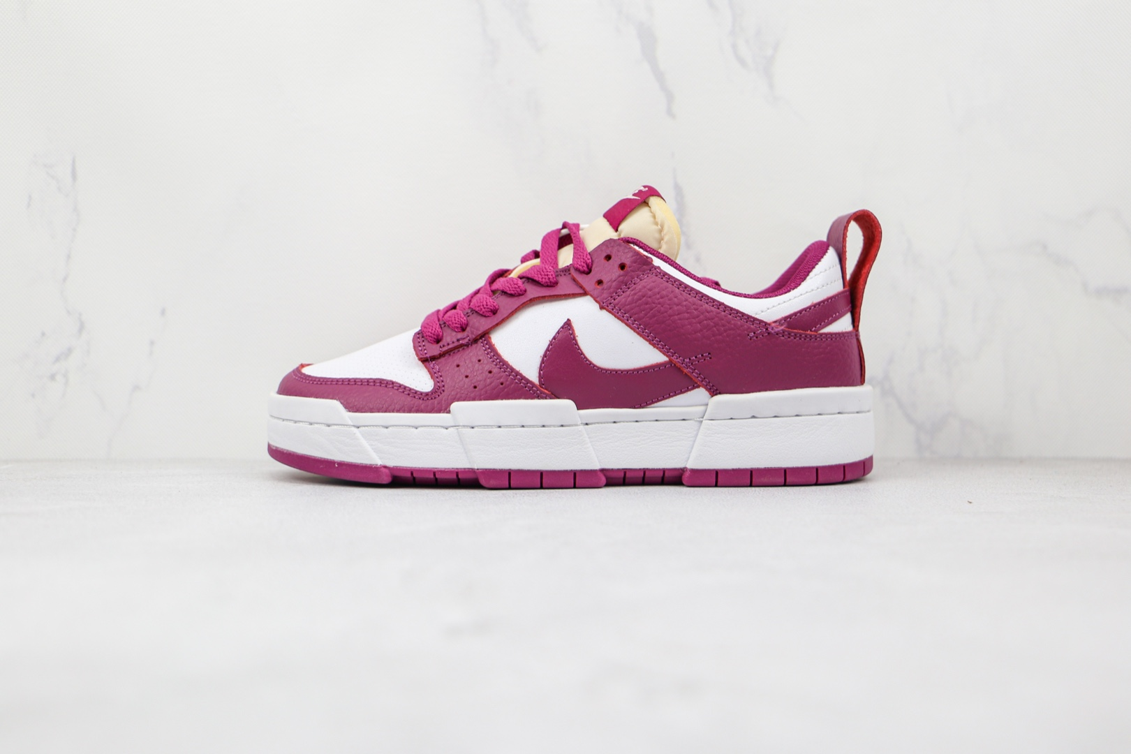 耐克Nike Dunk Low Disrupt纯原版本低帮DUNK解构酒红白红色板鞋原楦头纸板打造 货号:DJ6226-100
