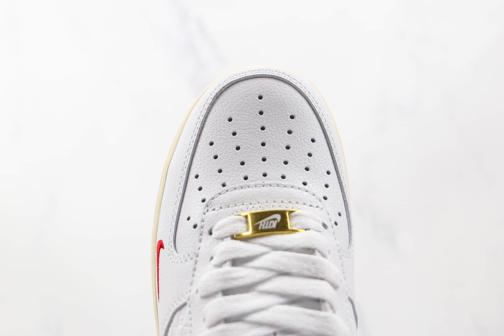 耐克Nike Air Force 1 Low x Kith联名款纯原版本低帮空军一号白红色板鞋内置气垫 货号:CZ7926-100