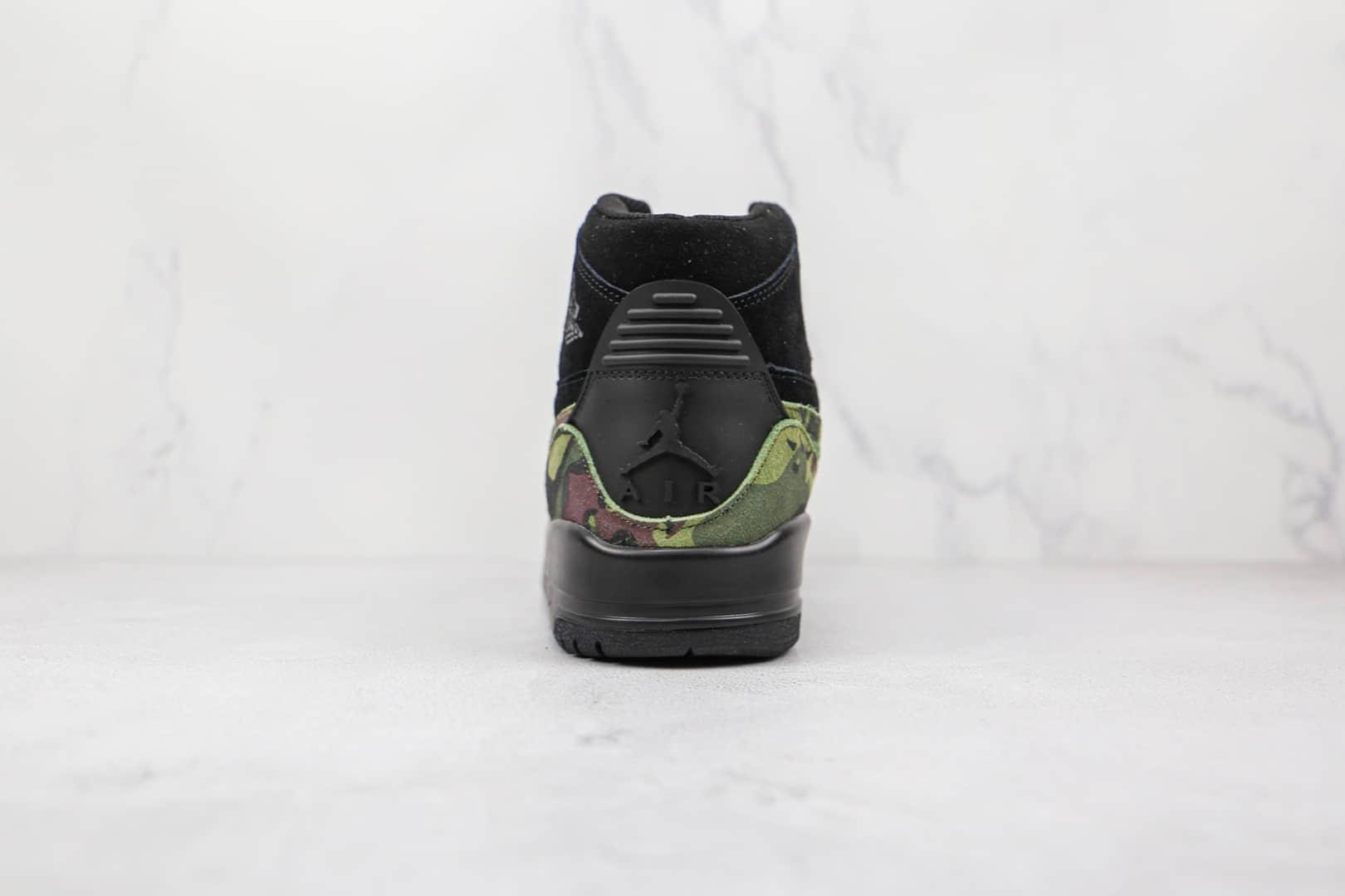 乔丹Air Jordan Legacy 312纯原版本高帮AJ312黑迷彩色板鞋原档案数据开发 货号:AV3922-003