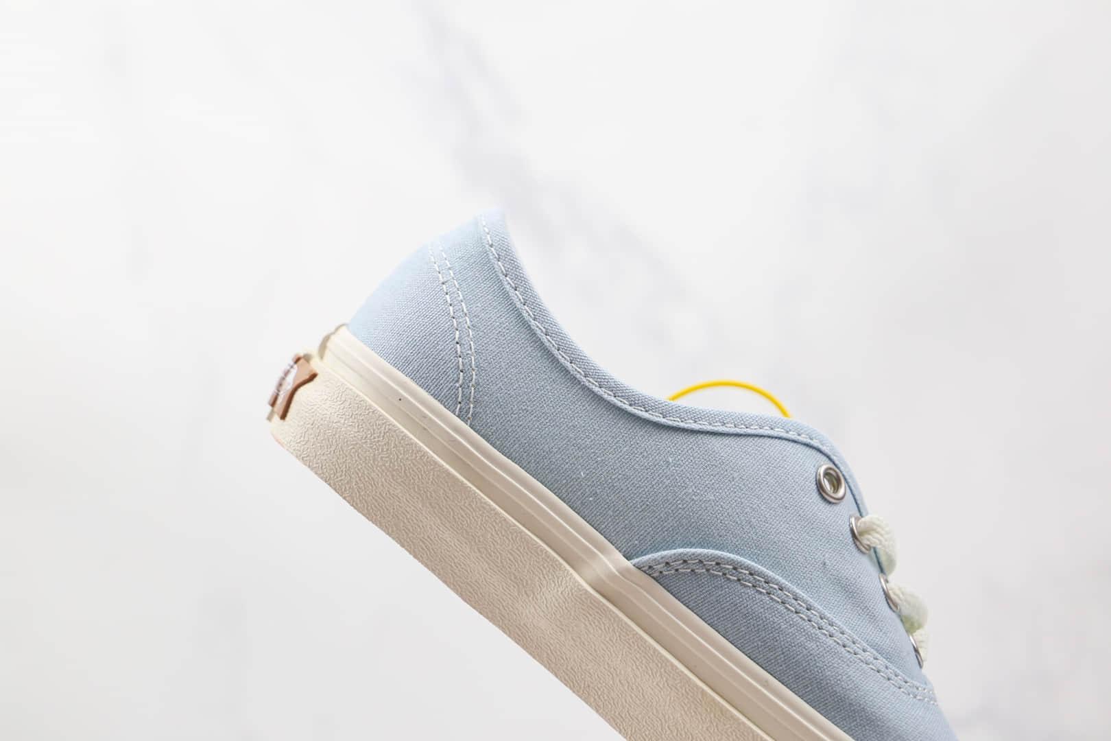 万斯Vans Eco Theory公司级版本环保材料粉蓝米白麻绳硫化板鞋原厂硫化大底