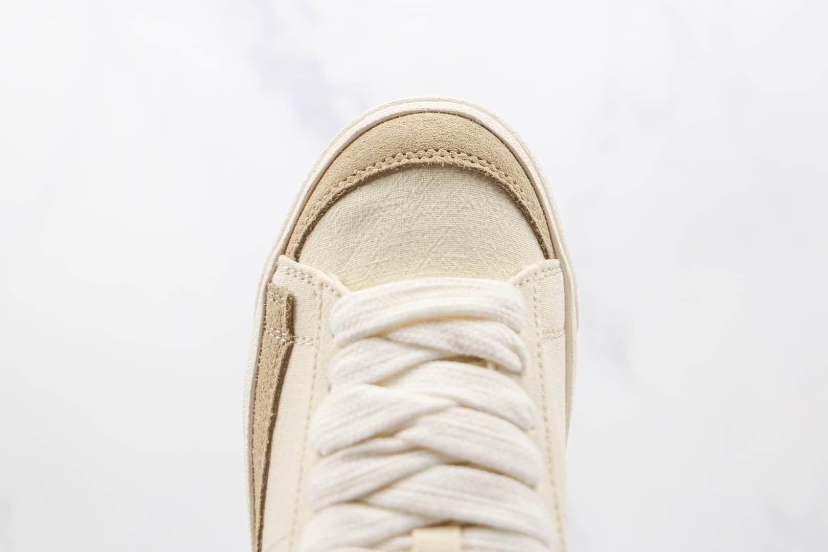 耐克NIKE Blazer LOW 77 VNTG纯原版本低帮开拓者腰果花米色板鞋原楦头纸板打造 货号:DJ4665-100