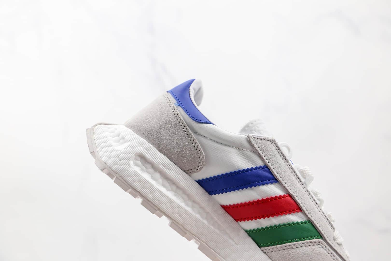 阿迪达斯adidas Retropy E5纯原版本运动休闲爆米花跑鞋白彩虹色原档案数据开发 货号:Q47513