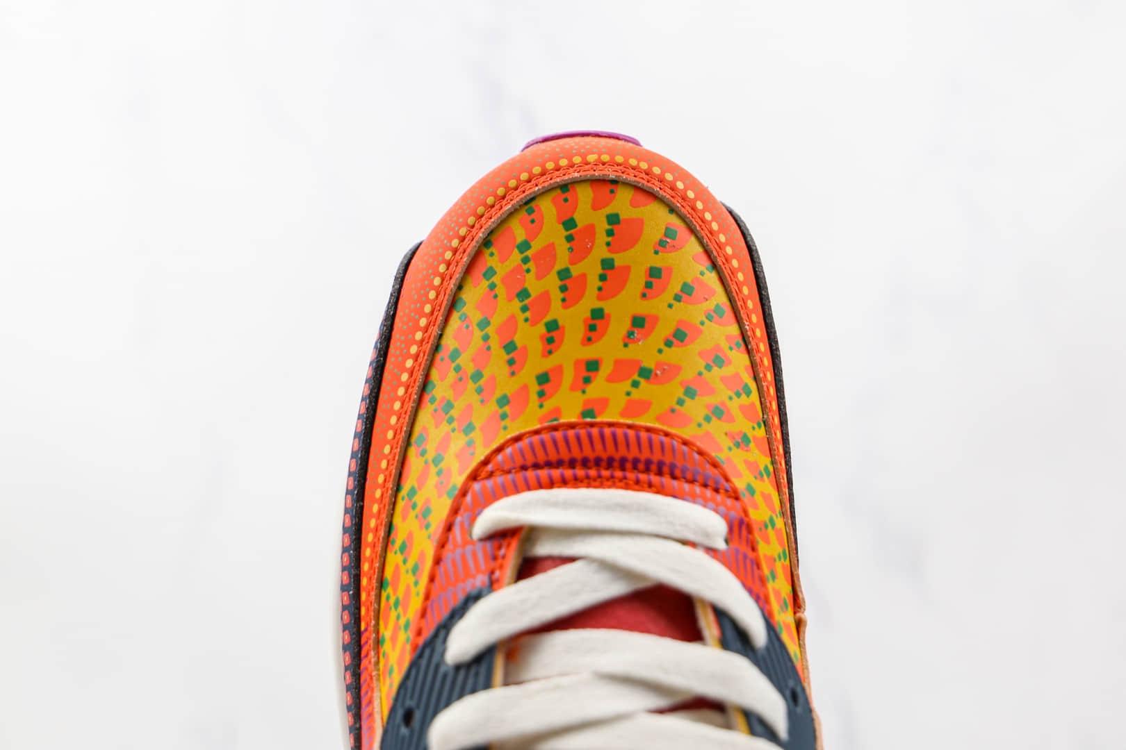 """耐克Nike Air Max 90 SE """"Day Of The Dead""""纯原版本半掌气垫跑鞋Max90亡灵节彩色拼接原盒钢印 货号:DC5154-458"""