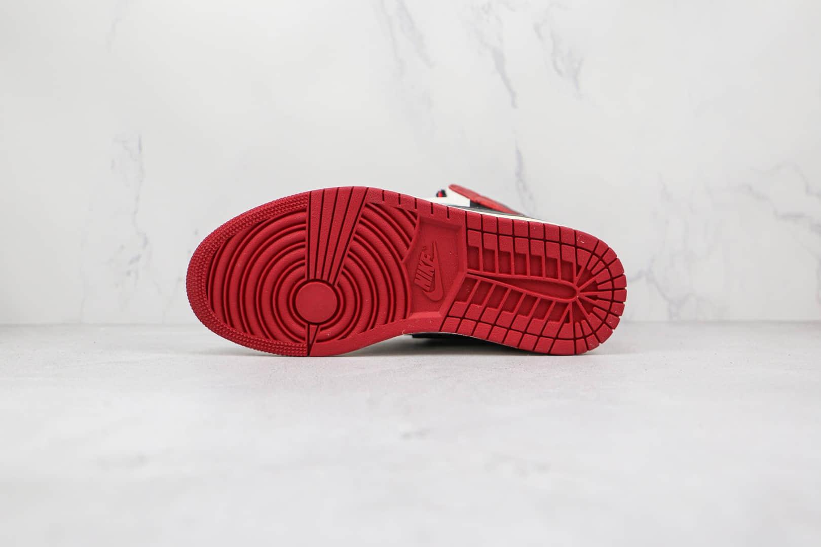 乔丹Fragment x Travis Scott x Air Jordan 1High OG SP公司级版本藤原浩闪电TS联名款高帮AJ1白红色倒勾原鞋原楦头纸板开发 货号:CQ4278-099