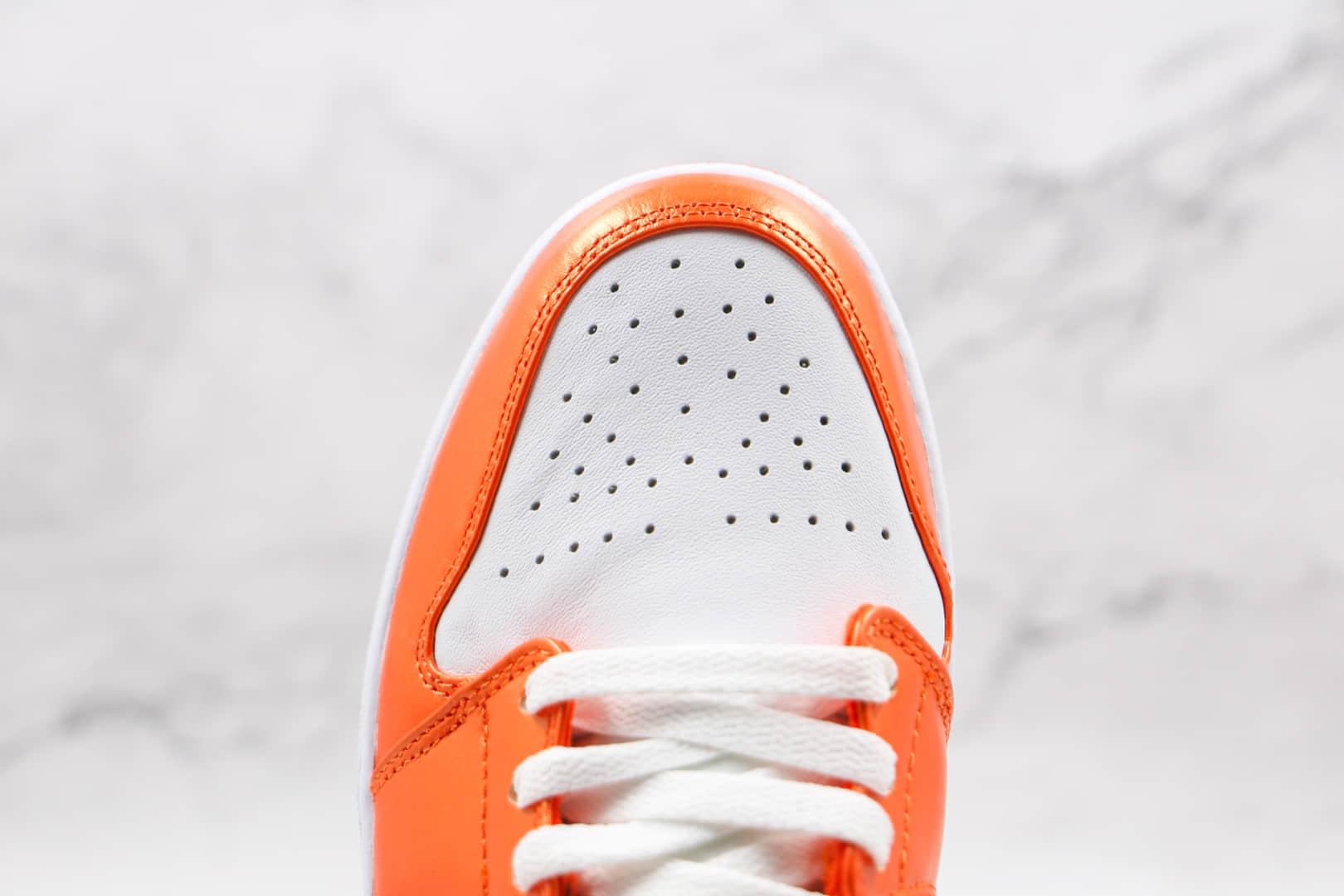 乔丹Air Jordan 1 Mid纯原版本中帮AJ1白橙小扣碎板鞋原档案数据开发 货号:DM3531-800