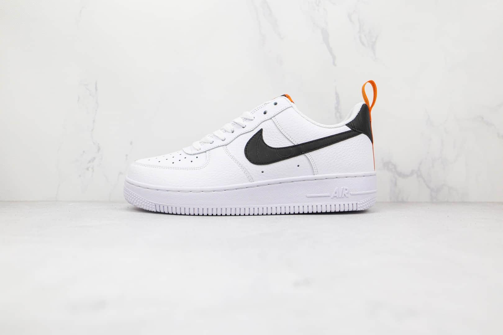 耐克Nike Air Force 1 Low '07纯原版本低帮空军一号白黑橙色压纹板鞋原楦头纸板打造 货号:DO6394-100