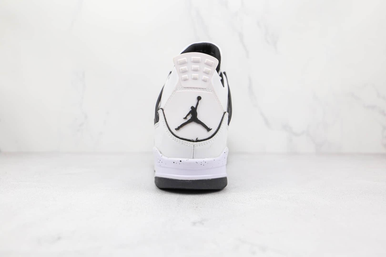 乔丹Air Jordan 4 DIY纯原版本黑白手绘涂鸦AJ4篮球鞋原档案数据开发 货号:DC4101-100