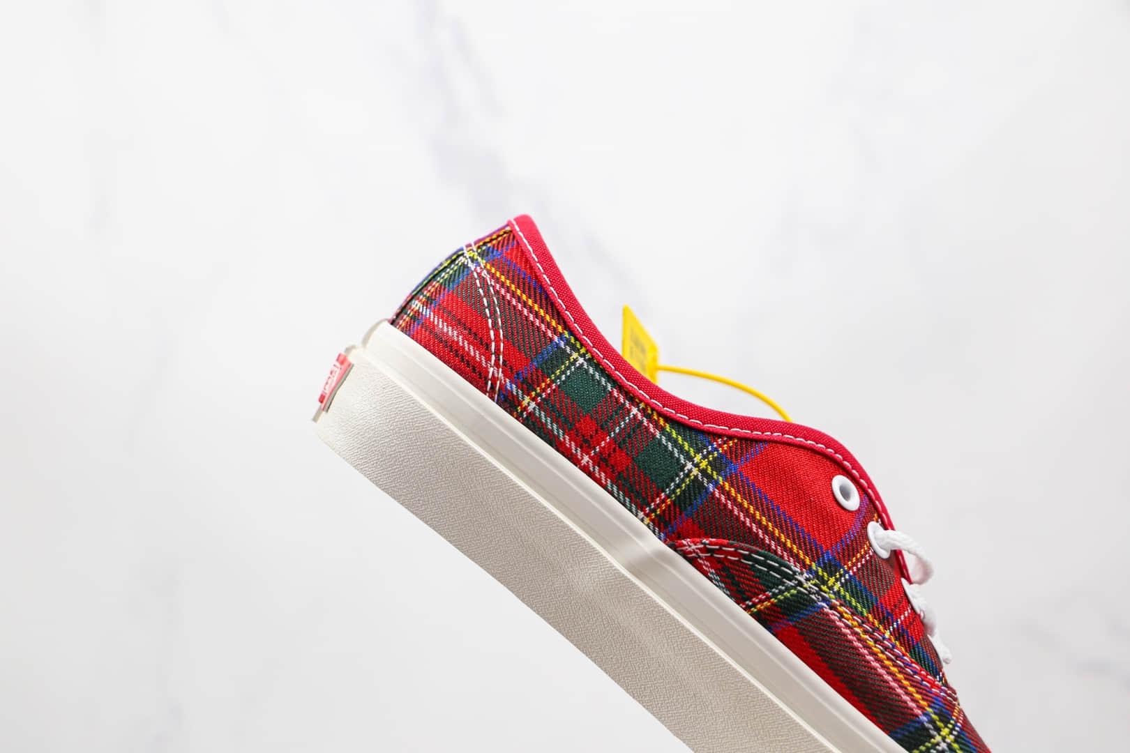 万斯Vans Vans Style 44 x PENDLETON联名款公司级版本黑红格子安纳海姆硫化板鞋原盒原标