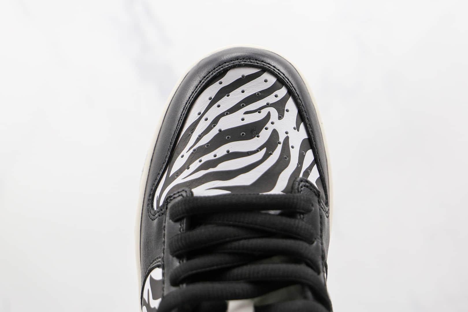 耐克Nike SB Dunk Low Zebra x Quartersnacks联名款纯原版本低帮SB DUNK黑斑马配色板鞋原档案数据开发 货号:DM3510-001