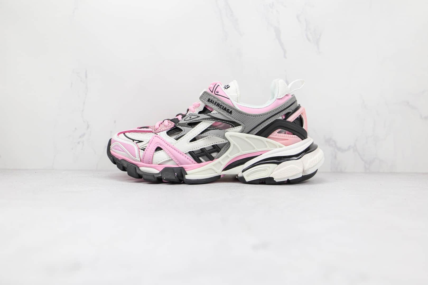 巴黎世家Balenciaga Track 4.0纯原版本白灰粉色复古老爹鞋原档案数据开发原盒原标